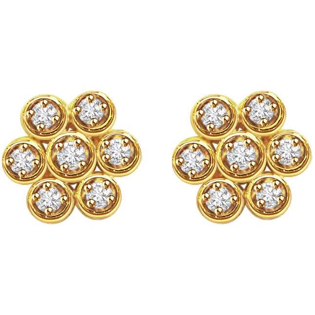 Ravishing Round Shaped Earrings -Kudajodi