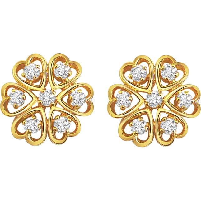 Demure Diamond Earrings -Kudajodi