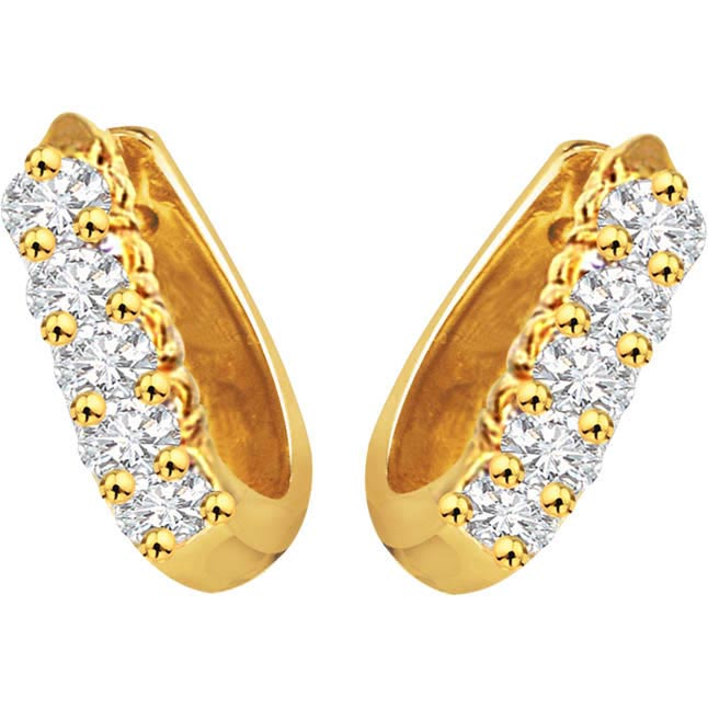 Diamond Daze Bali Earrings -Balis & Hoops