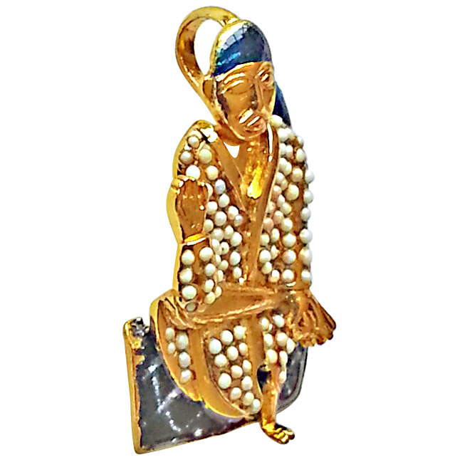 Saibaba Pendants set in Gold Plated Silver -Religious