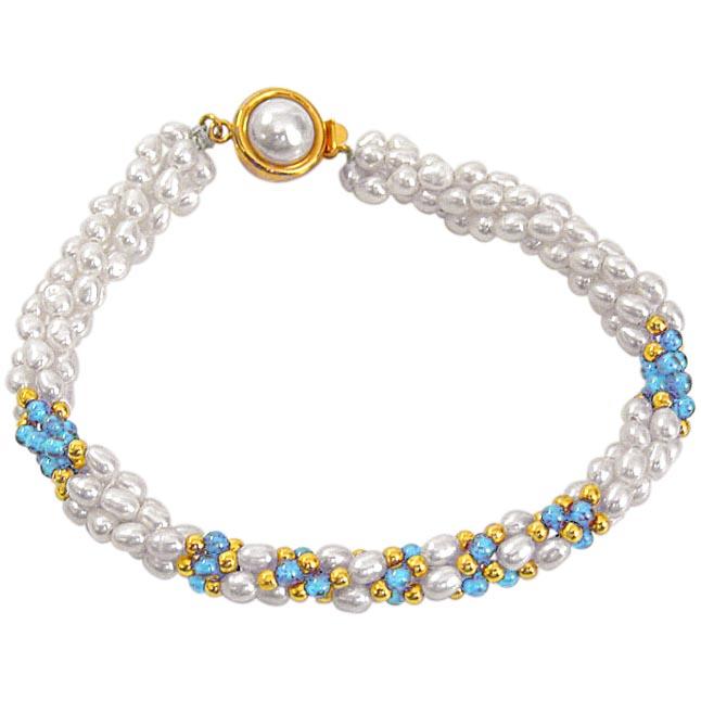 SB -15 Brilliant Bracelet -Pearl Bracelet