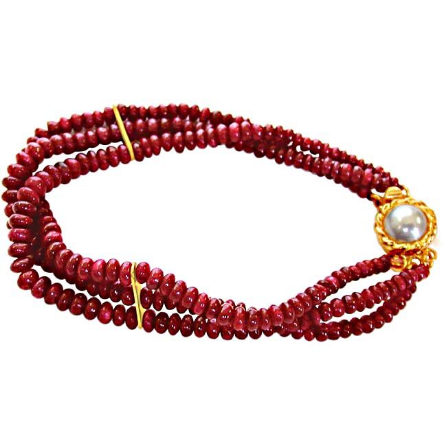 Ruby Drool Bracelet -Pre.Stone Bracelet