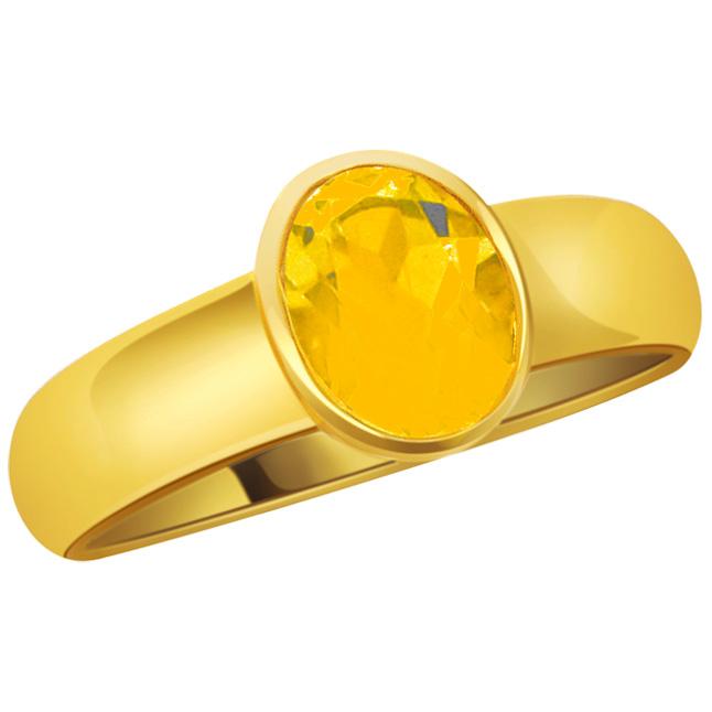 Sagittarius Dhanu Rashi patible Yellow Sapphire Stone Jewelry