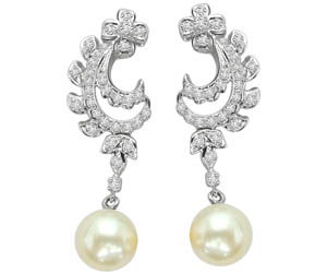 Scintillating South Sea Pearl Earrings -Designer Earrings