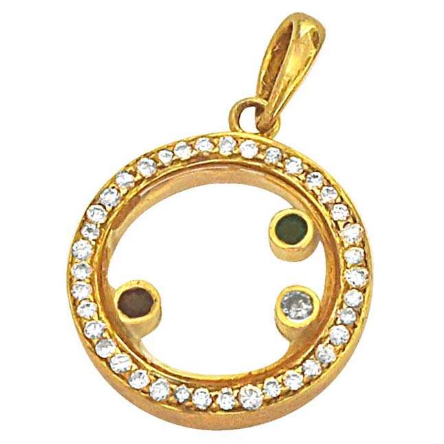 0.28ct Dancing Diamond 18kt Gold Pendants for Her Engagement Gift