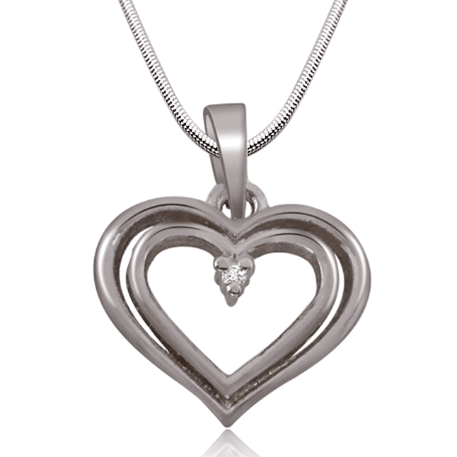 "Final Destination -Real Diamond & Sterling Silver Pendants with 18"" Chain"