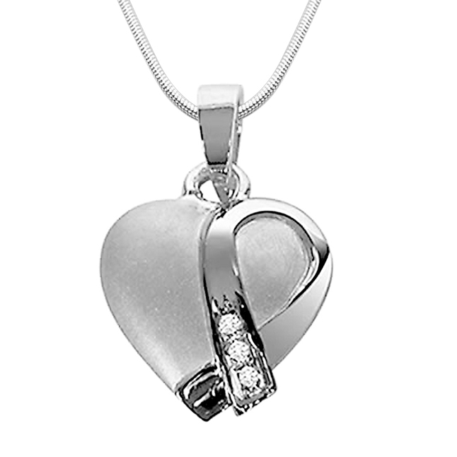 "Pride of neck -Real Diamond & Sterling Silver Pendants with 18"" Chain"