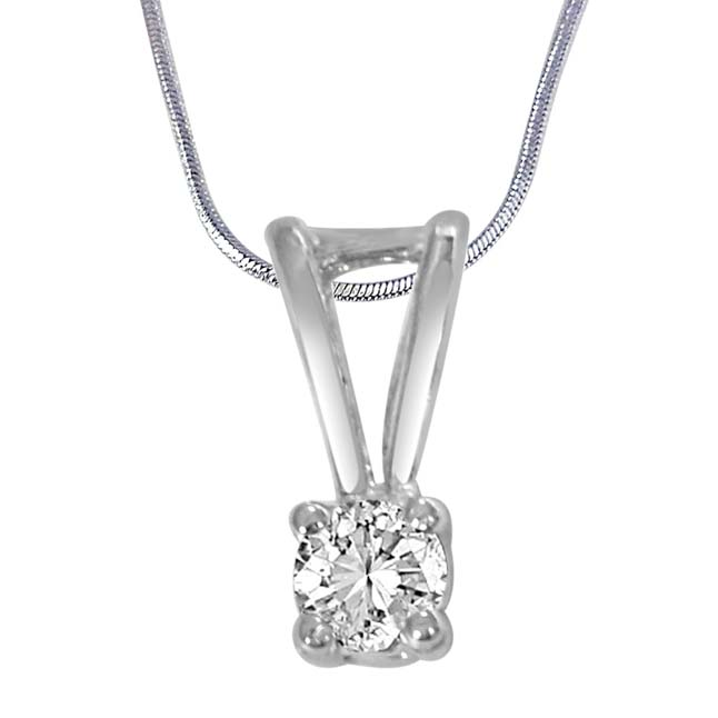 "In the Sky White Topaz & Sterling Silver Pendants with 18"" Chain"