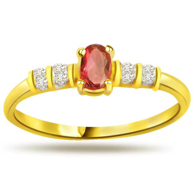 Lady Love Trendy Diamond & Ruby rings SDR1000