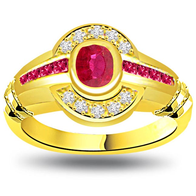 Bridal Status Classic Ruby & Diamond rings SDR1007
