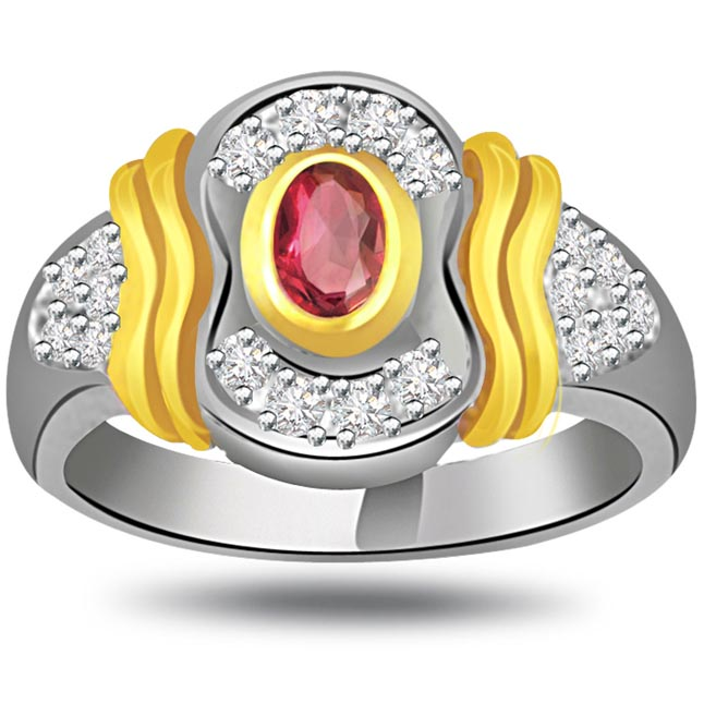 Twinkling Millenium Classic Ruby & Diamond rings SDR1015