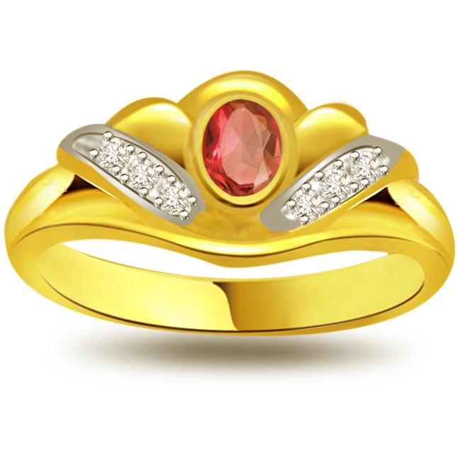 Goldmine Glitter Shimmer Diamond & Ruby rings SDR1018