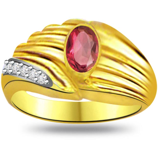 Rosebud Classic Ruby & Diamond rings SDR1025