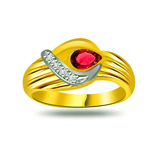 Ruby Delight Trendy Diamond & Ruby rings SDR1026