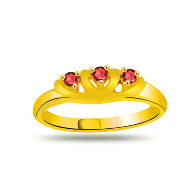 RUBY A PASSION Classic Ruby Gold rings SDR1027