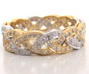 Diamond Bridal Bliss Two Tone Diamond rings