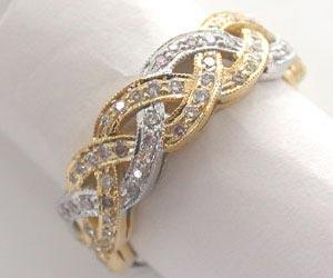 Diamond Bridal Bliss Two Tone Diamond rings