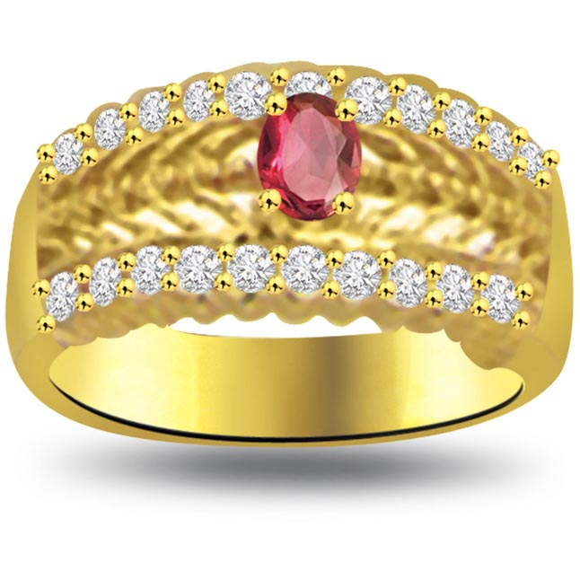 Night of Full Moon Classic Ruby & Diamond rings SDR1033