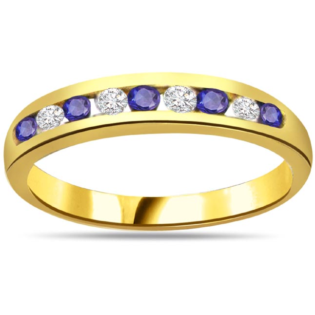 Blue Desire Elegant Diamond & Sapphir rings SDR1046