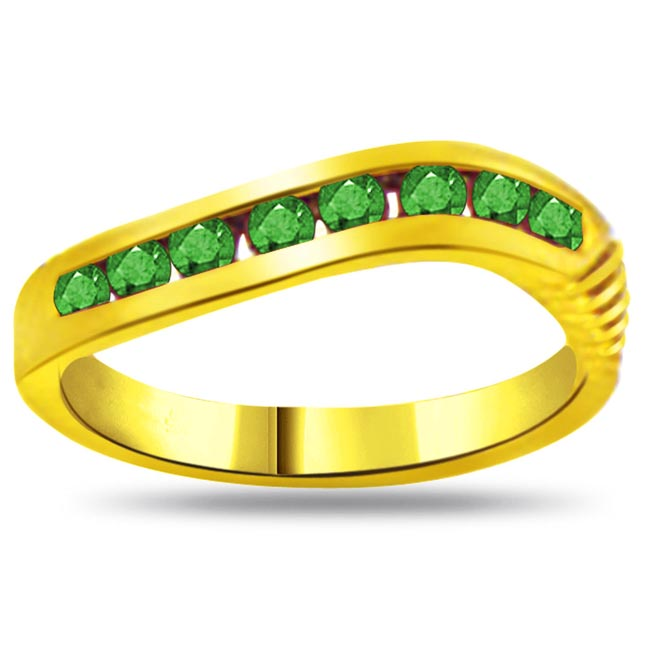 Garden of Emerald Fine Emerald Gold rings SDR1061 -Diamond & Emerald