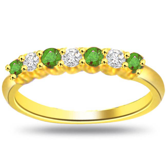 Elegant Envy Real Diamond & Emerald rings -Diamond & Emerald