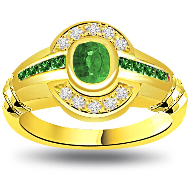 Green Beauty Elegant Diamond & Emerald rings SDR1070 -Diamond & Emerald