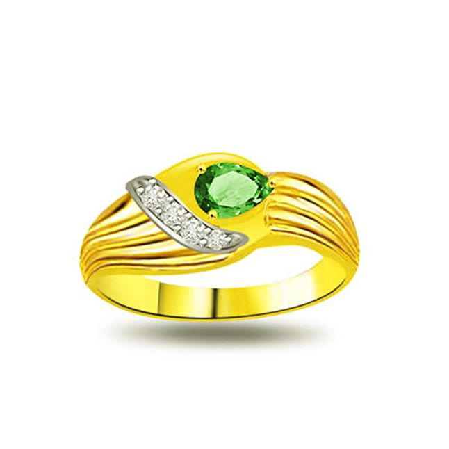 Ultimate Emerald Elegant Diamond & Emerald rings SDR1079 -Diamond & Emerald