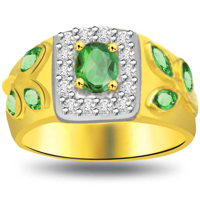 Springs Here Classic Diamond & Emerald rings SDR1084 -Diamond & Emerald