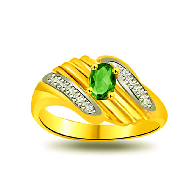 Symbol of Faith Fine Diamond & Emerald rings SDR1096 -Diamond & Emerald