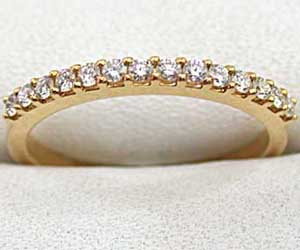 She's Perfect Diamond rings in 18kt Gold -Yellow Gold Eternity rings