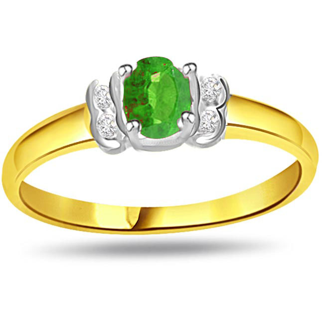 Timeless Radiance Trendy Diamond & Emerald rings SDR1101 -Diamond & Emerald