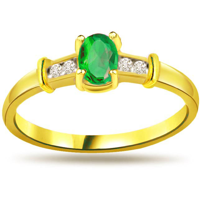 Emerald Enigma Fine Diamond & Emerald rings SDR1104 -Diamond & Emerald