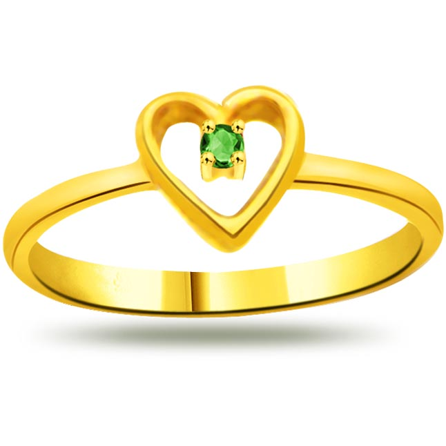 Wedding Infinity Emerald Heart rings SDR1108