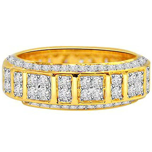 Your Majesty Diamond rings in 18kt Gold -Yellow Gold Eternity rings