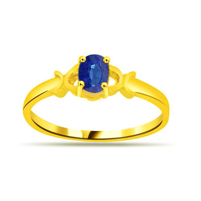Star of the Ocean Oval Sapphire Gold rings SDR1126