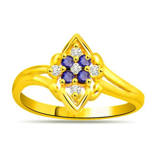 Brightening Blind Classic Diamond & Sapphire rings SDR1129