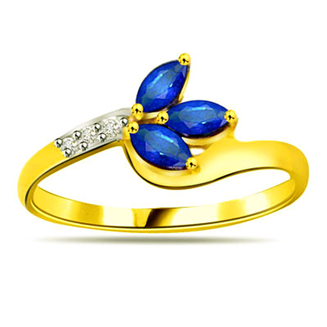 Classic Diamond & Sapphire rings SDR1132