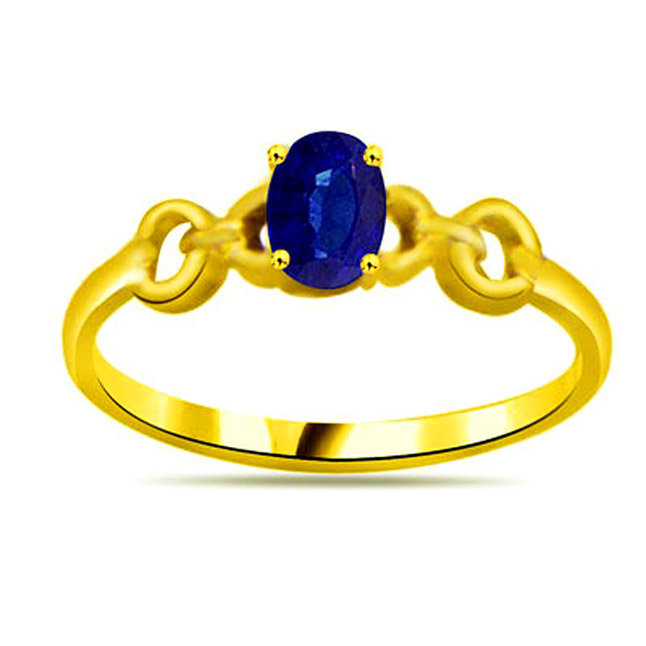 Oval Sapphire Gold rings SDR1134