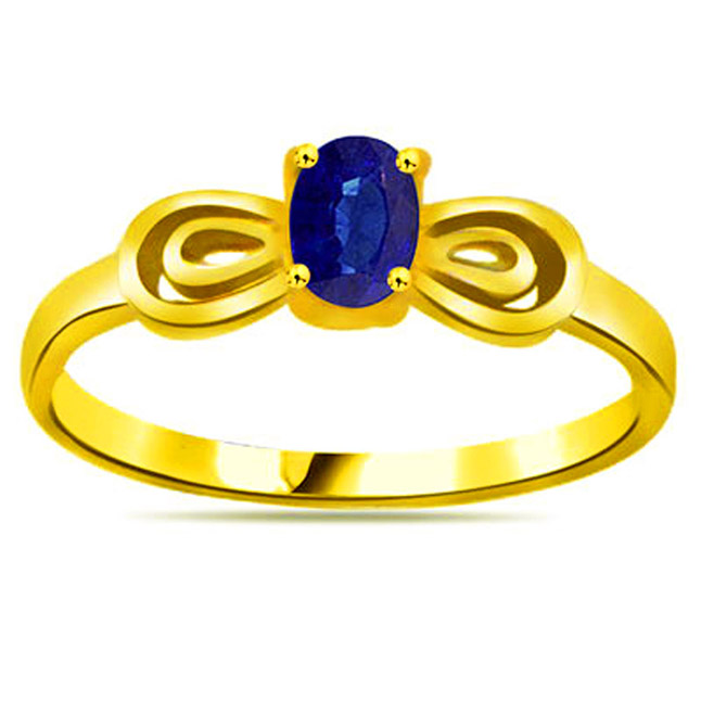 Oval Sapphire Gold rings SDR1135