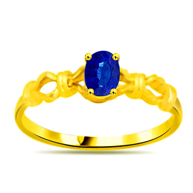 Oval Sapphire Gold rings SDR1136