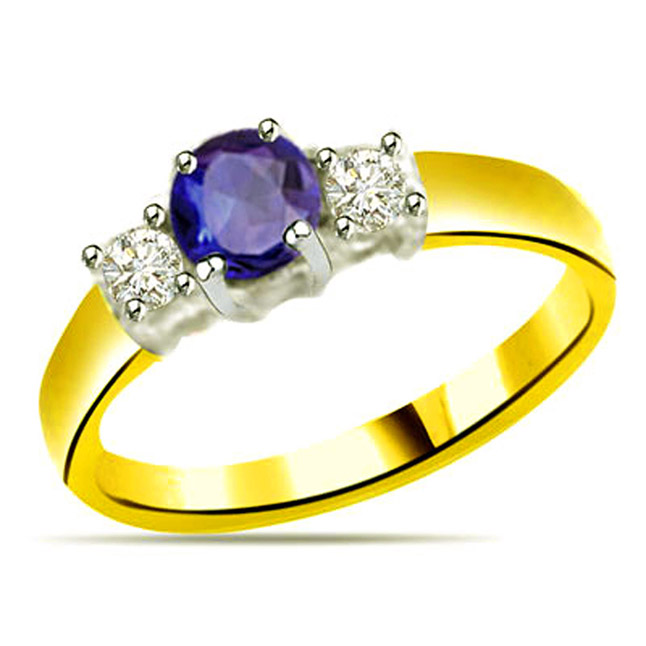 Classic Diamond & Sapphire Gold rings SDR1141