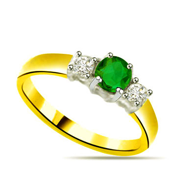 Diamond & Emerald rings SDR1143 -Diamond & Emerald