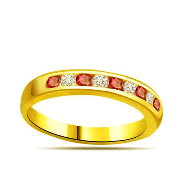 Diamond & Ruby Gold rings SDR1144
