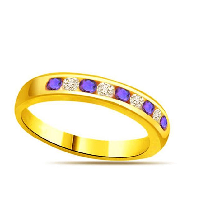 Diamond & Sapphire Gold rings SDR1145