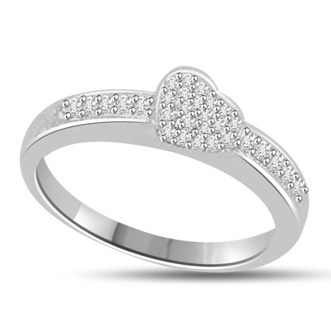 Symbol of Loyalty 0.30cts Diamond white Gold rings SDR1151 -Designer