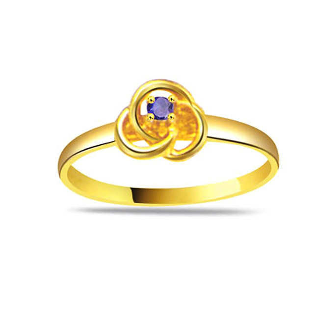 Dazzling Beauty Round Sapphire Gold rings SDR1157
