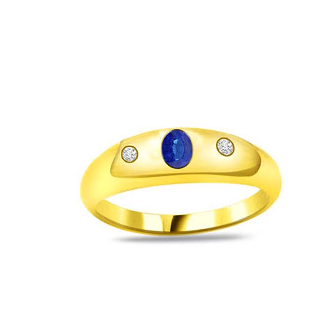 Sapphire Desire Trendy Diamond & Sapphire Gold rings SDR1158