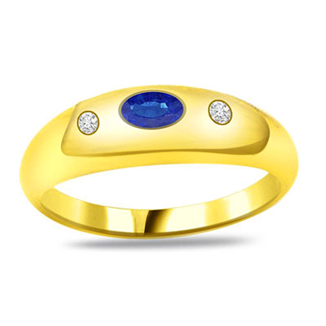 Love For Sapphire Classic Diamond & Sapphire Gold rings SDR1159