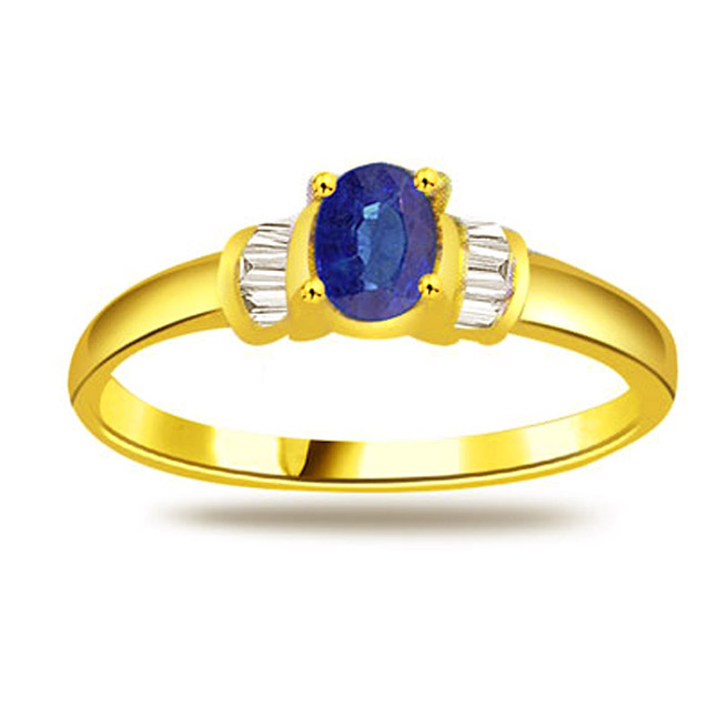 Oval Sapphire Gold rings SDR1161