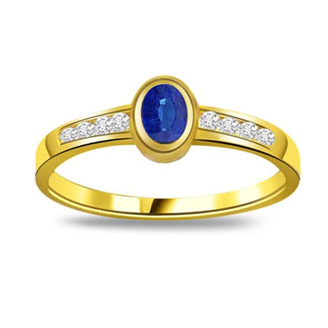 0.16ct Diamond & Sapphire Gold rings SDR1162